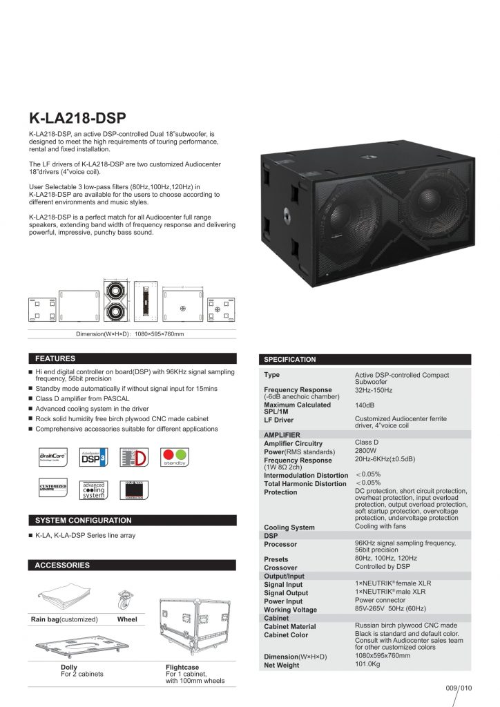 Audiocenter KLA 218-DSP/Công ty Nguyễn An 0976240826
